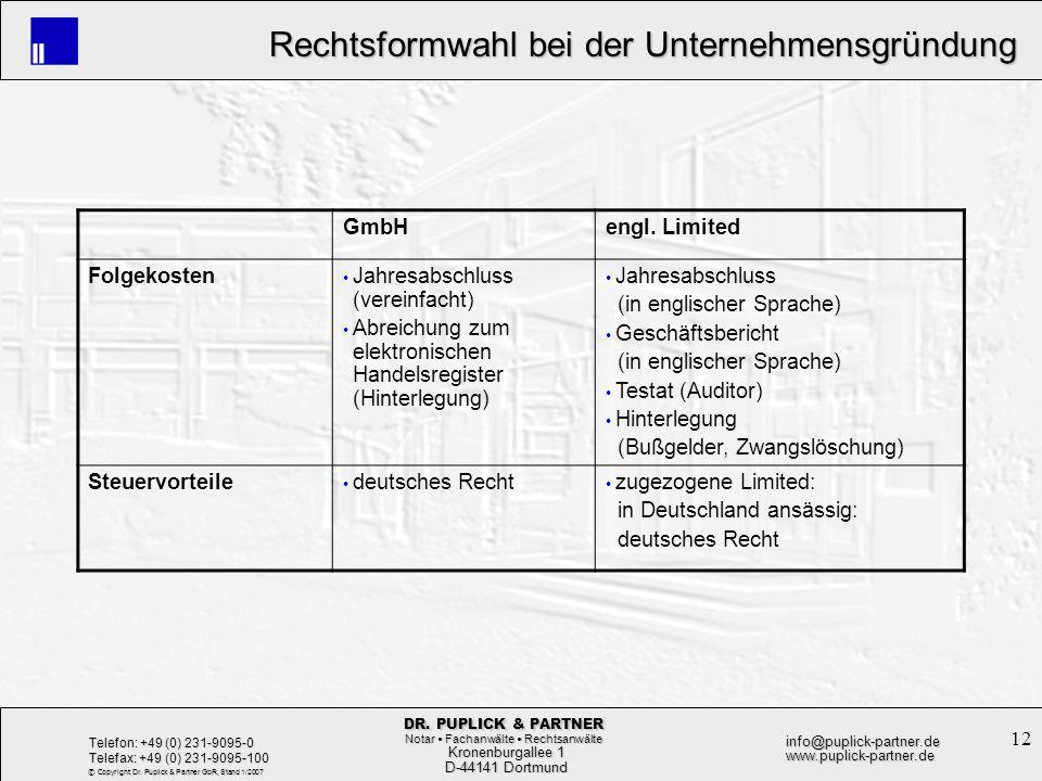 GmbH engl. Limited. Folgekosten. Jahresabschluss (vereinfacht) Abreichung zum elektronischen Handelsregister (Hinterlegung)