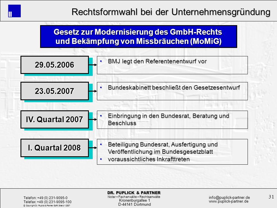 Gesetz zur Modernisierung des GmbH-Rechts