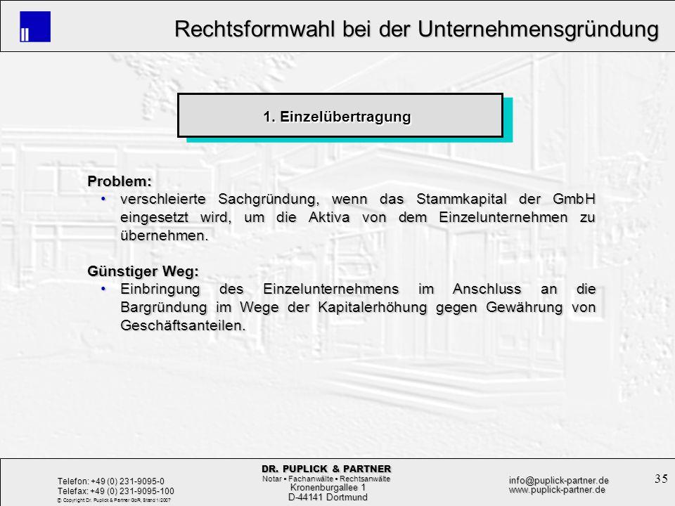 1. Einzelübertragung Problem: