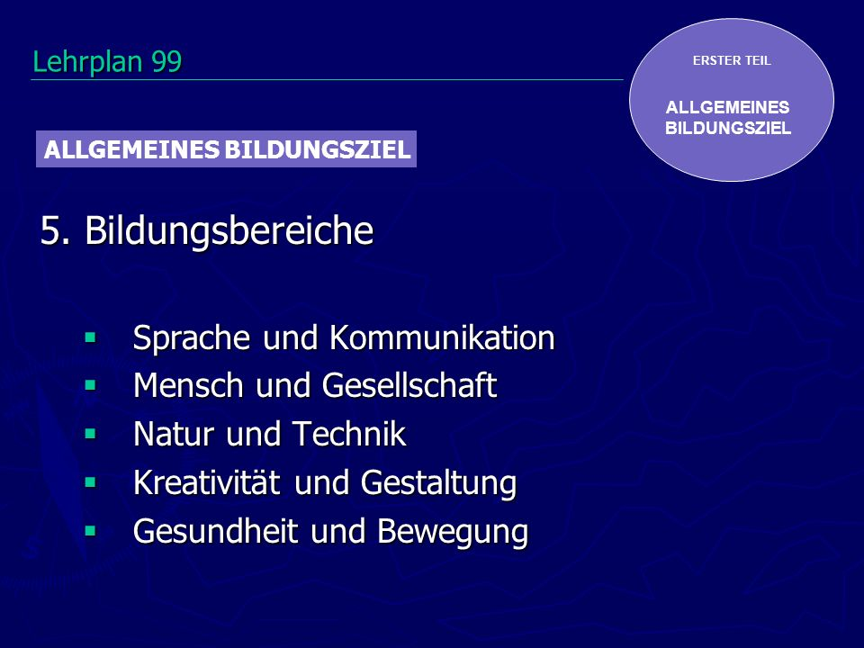 5. Bildungsbereiche Sprache und Kommunikation Mensch und Gesellschaft