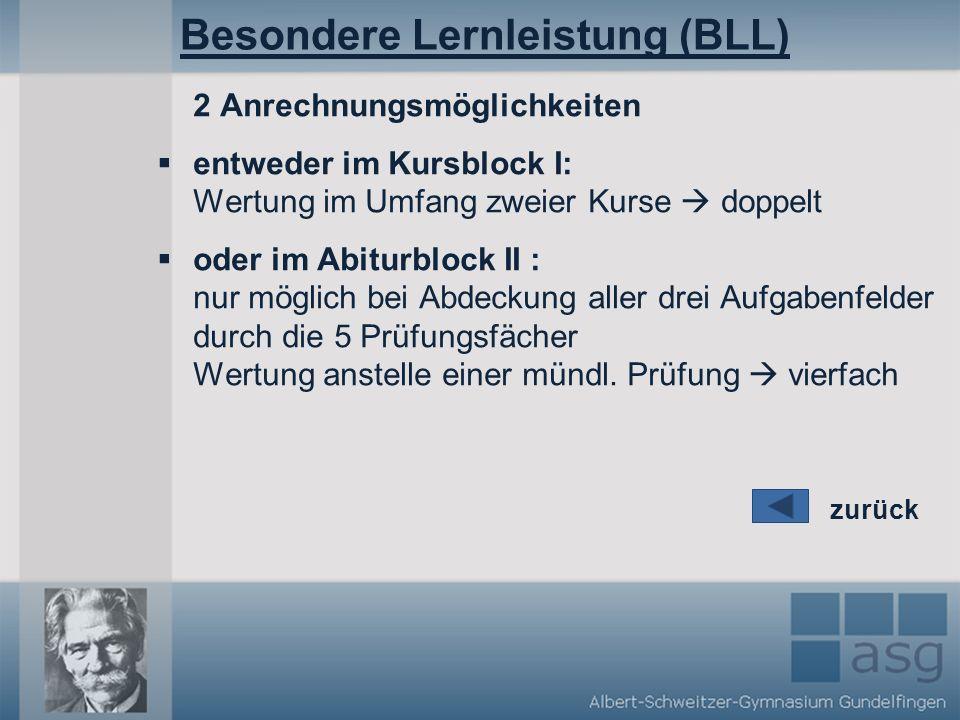 Besondere Lernleistung (BLL)