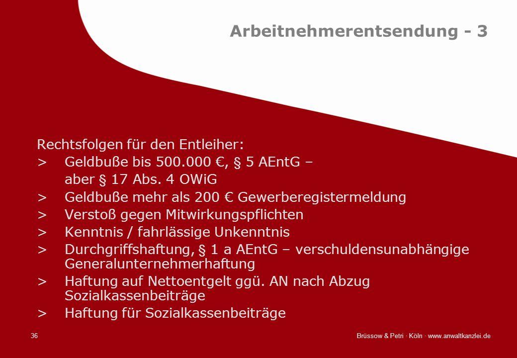 Arbeitnehmerentsendung - 3