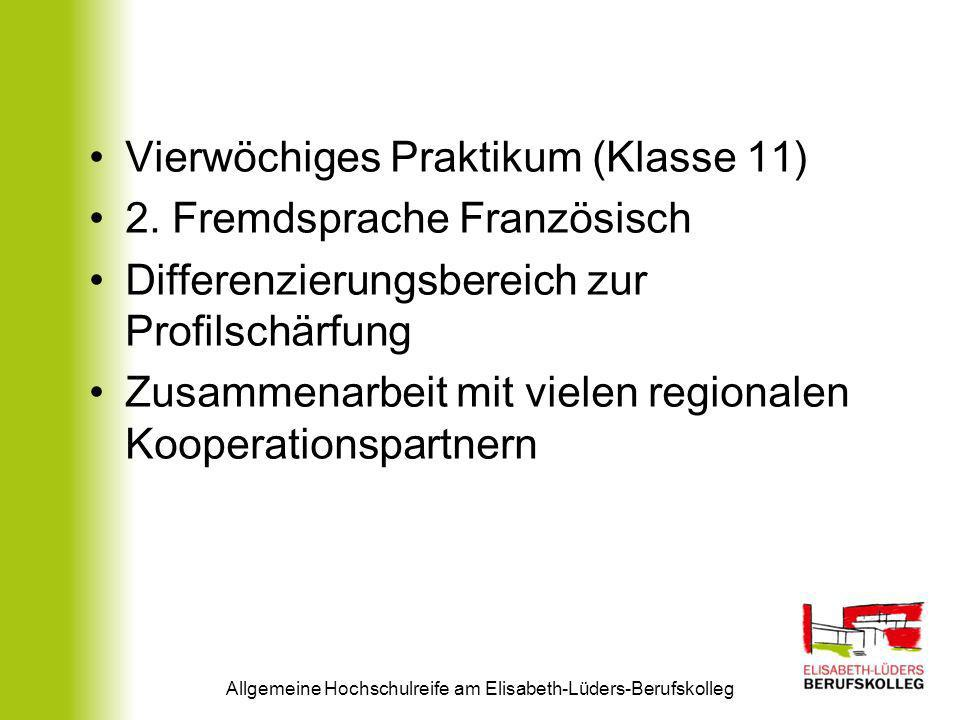 Allgemeine Hochschulreife am Elisabeth-Lüders-Berufskolleg