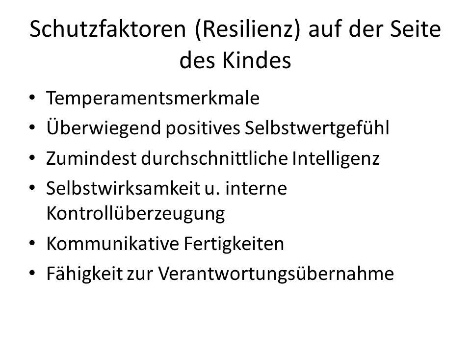 Schutzfaktoren (Resilienz) auf der Seite des Kindes