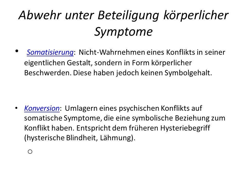 Abwehr unter Beteiligung körperlicher Symptome