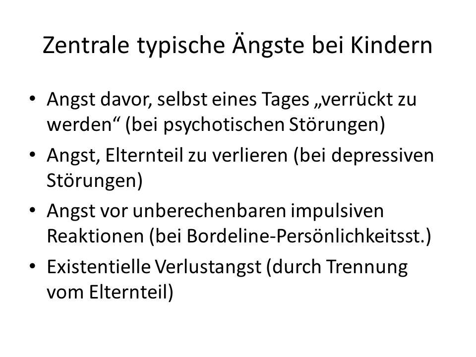 Zentrale typische Ängste bei Kindern