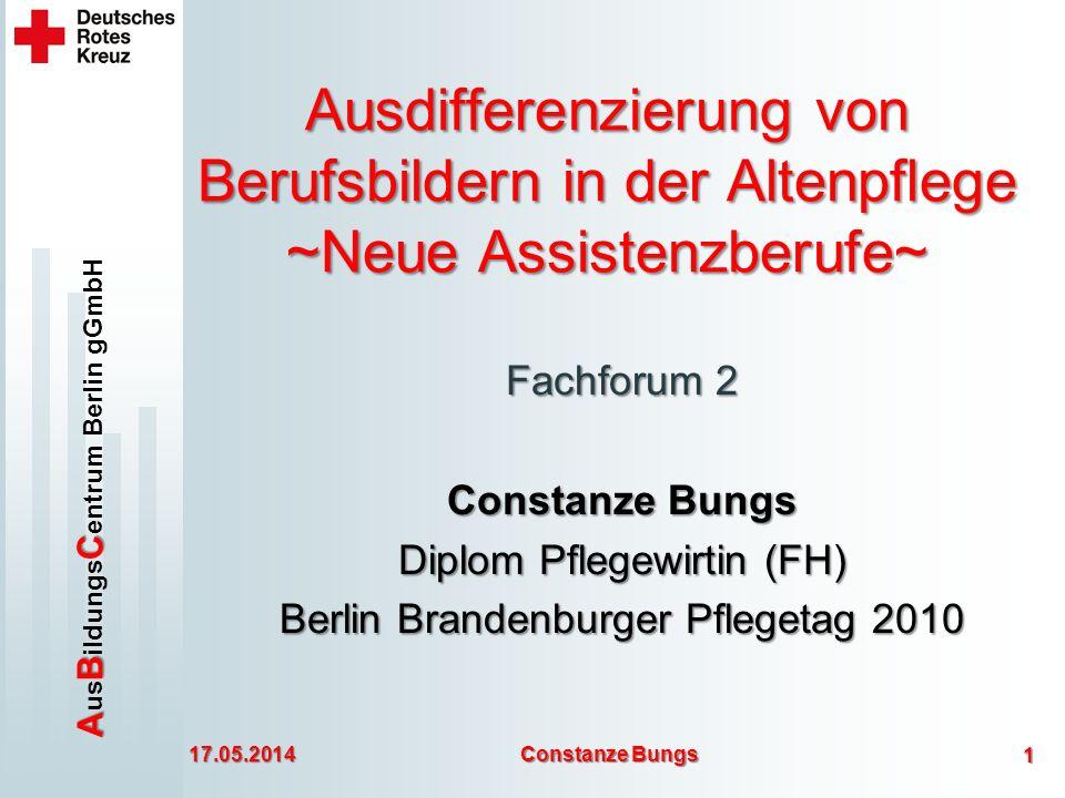 Ausdifferenzierung von Berufsbildern in der Altenpflege ~Neue Assistenzberufe~