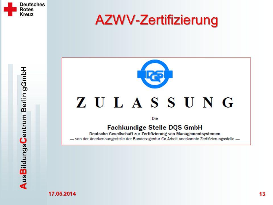 AZWV-Zertifizierung 30.03.2017