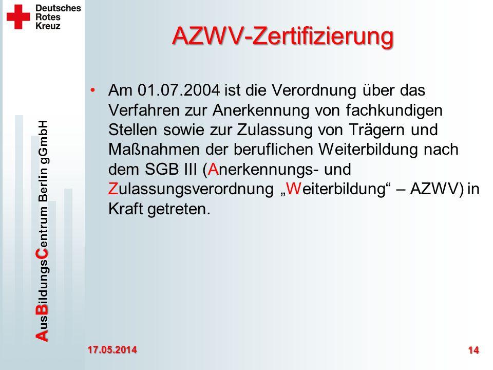 AZWV-Zertifizierung