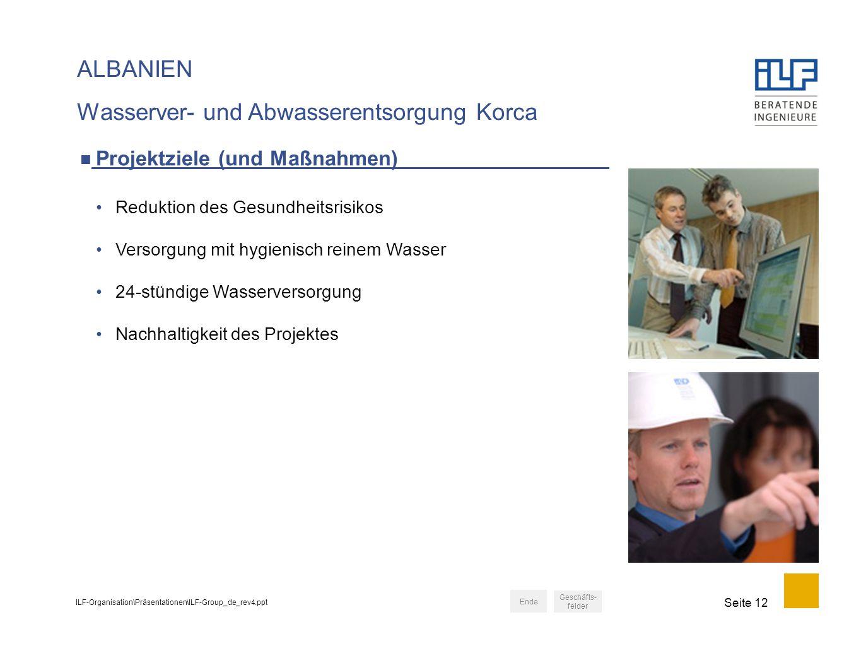 Wasserver- und Abwasserentsorgung Korca