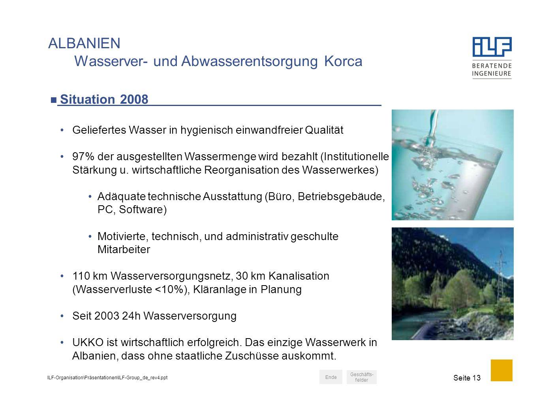 ALBANIEN Wasserver- und Abwasserentsorgung Korca