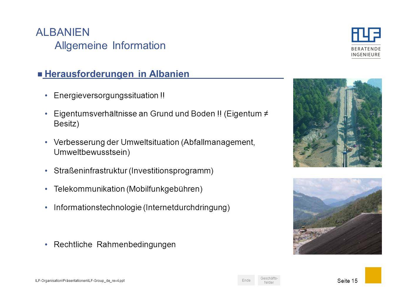 ALBANIEN Allgemeine Information