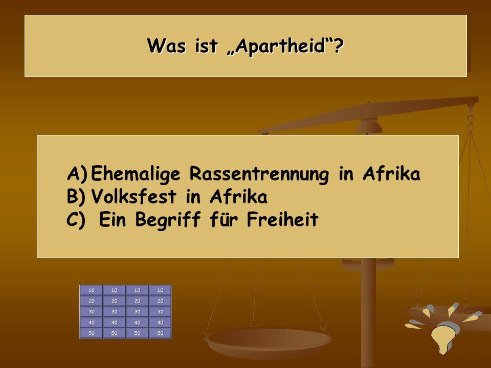 """Was ist """"Apartheid . Ehemalige Rassentrennung in Afrika."""