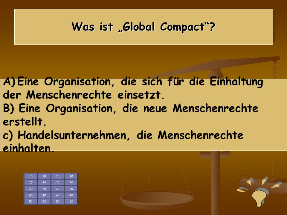 """Was ist """"Global Compact"""