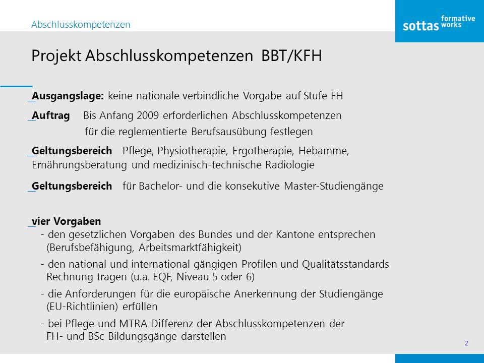 Projekt Abschlusskompetenzen BBT/KFH