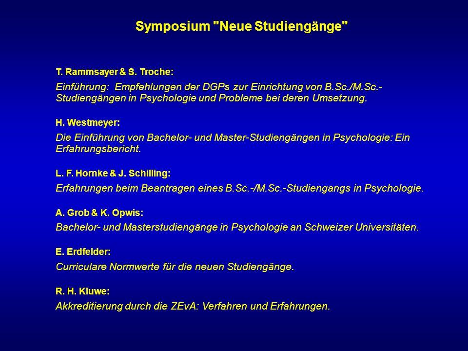 Symposium Neue Studiengänge