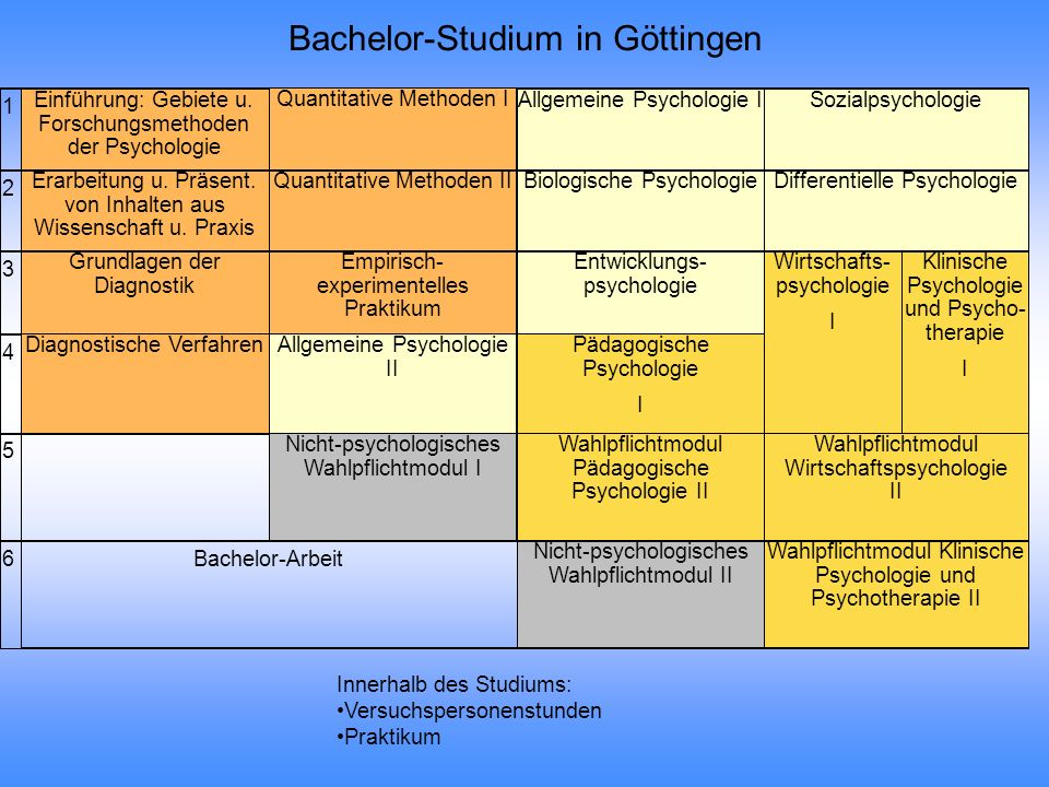 Bachelor-Studium in Göttingen