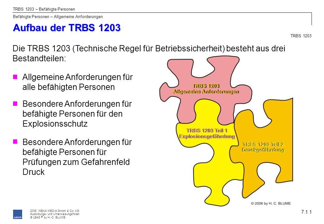 TRBS 1203 – Befähigte Personen