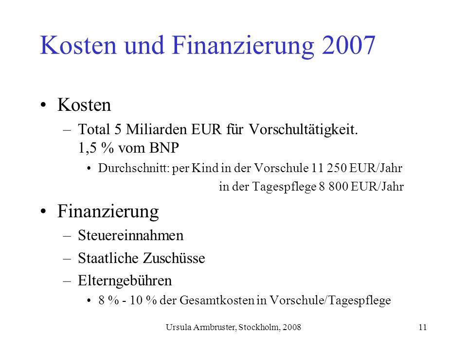 Kosten und Finanzierung 2007