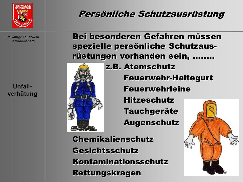 Persönliche Schutzausrüstung Freiwillige Feuerwehr
