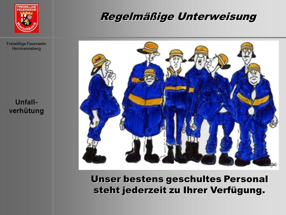 Regelmäßige Unterweisung Freiwillige Feuerwehr