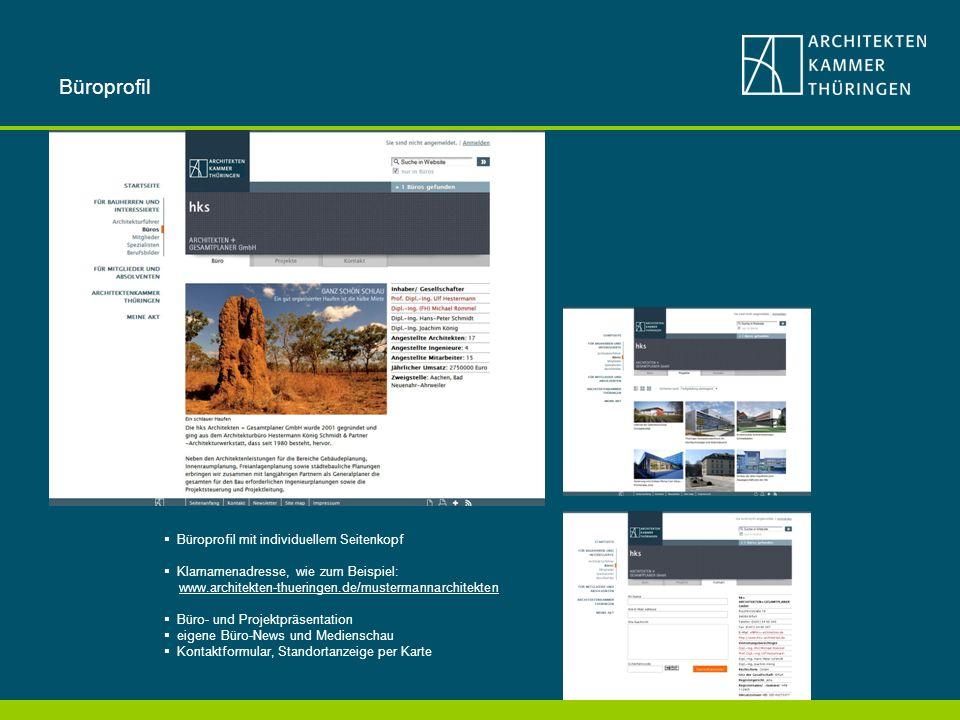 Büroprofil Büroprofil mit individuellem Seitenkopf