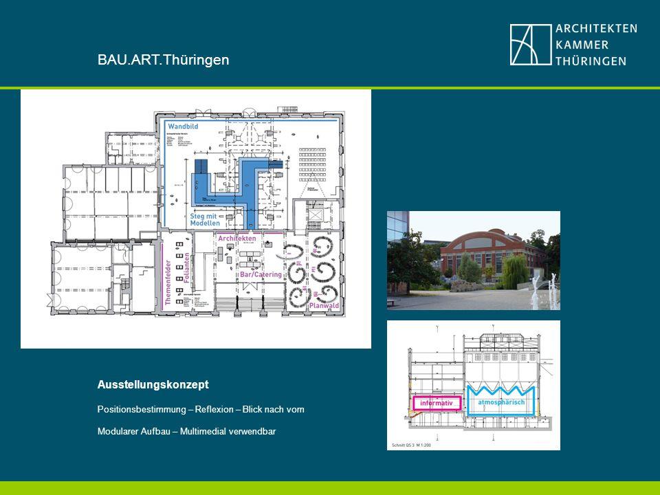BAU.ART.Thüringen Ausstellungskonzept