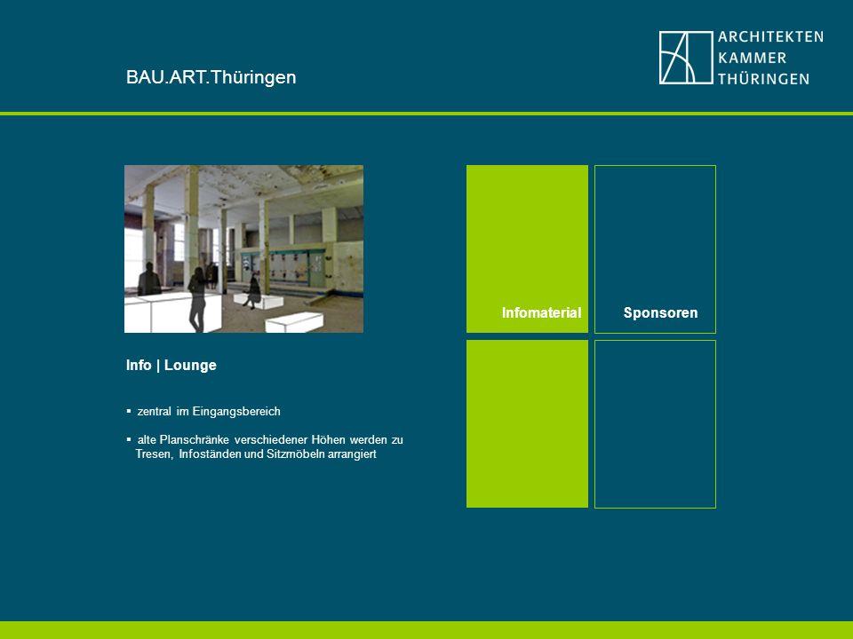 BAU.ART.Thüringen Infomaterial Sponsoren Info | Lounge