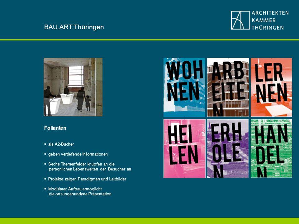 BAU.ART.Thüringen Folianten als A2-Bücher