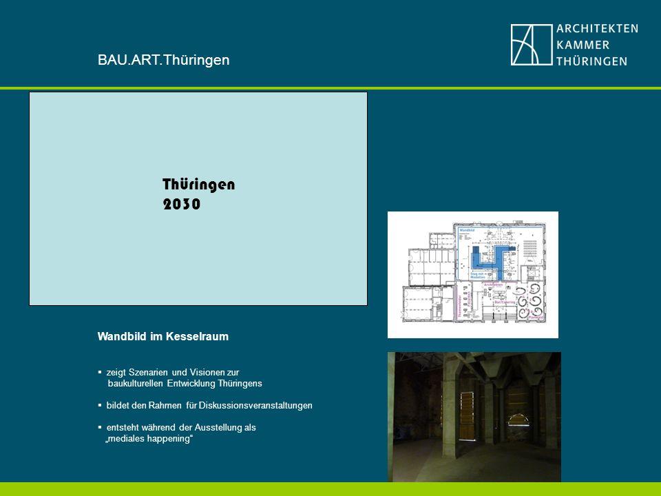 Thüringen 2030 BAU.ART.Thüringen Wandbild im Kesselraum