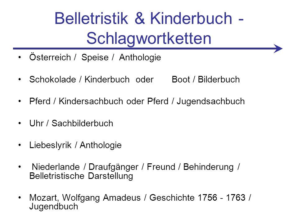 Belletristik & Kinderbuch - Schlagwortketten