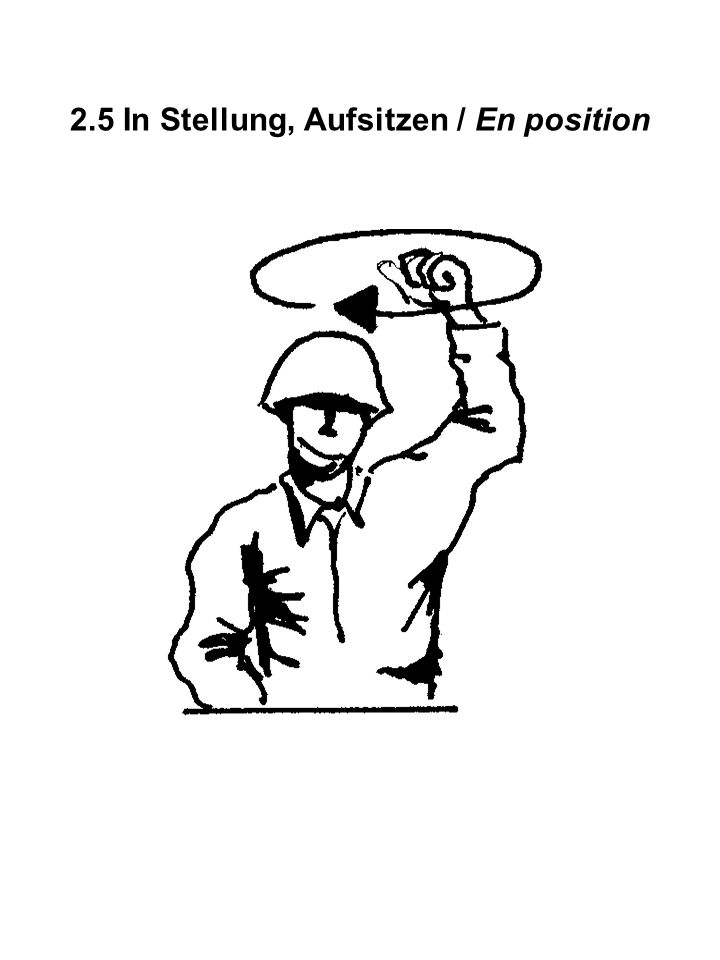 2.5 In Stellung, Aufsitzen / En position