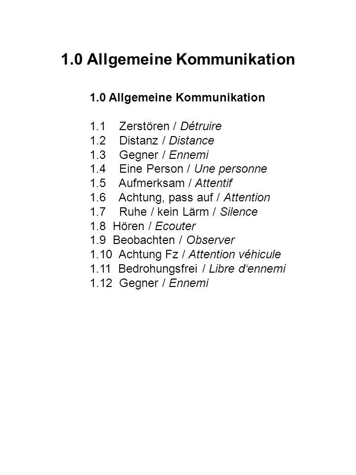 1.0 Allgemeine Kommunikation