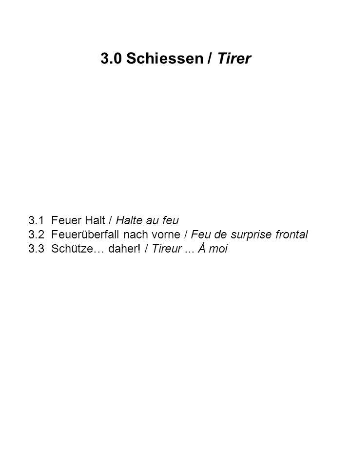 3.0 Schiessen / Tirer 3.1 Feuer Halt / Halte au feu