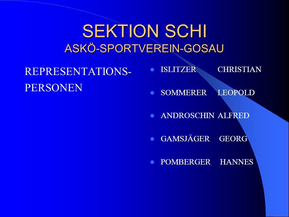 SEKTION SCHI ASKÖ-SPORTVEREIN-GOSAU