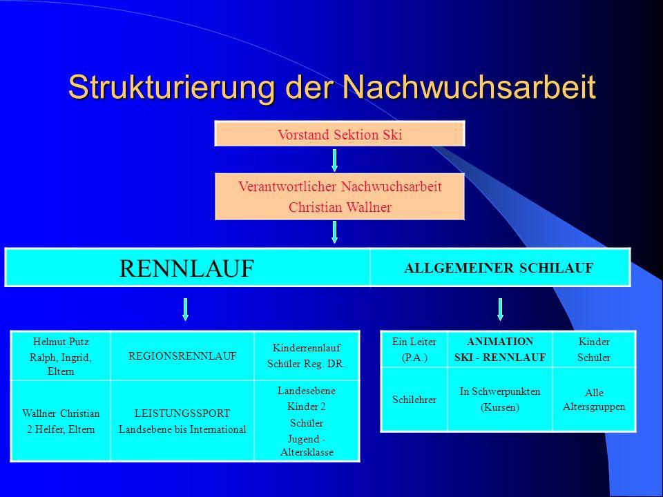 Strukturierung der Nachwuchsarbeit