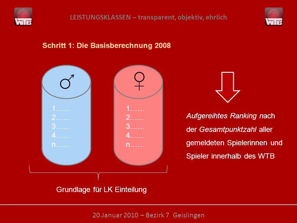 Schritt 1: Die Basisberechnung 2008