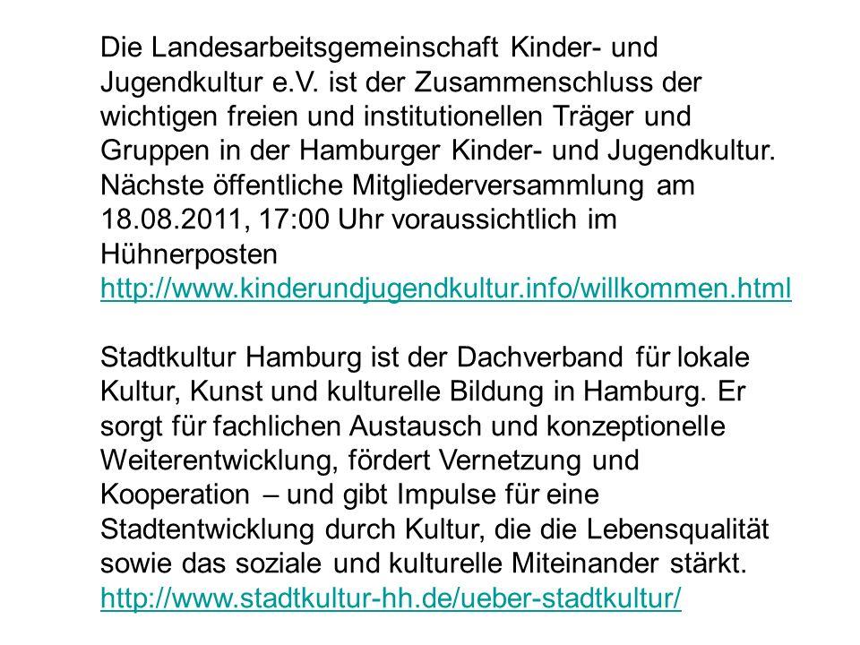 Die Landesarbeitsgemeinschaft Kinder- und Jugendkultur e. V