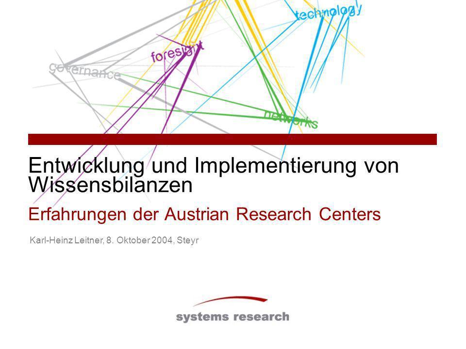 Entwicklung und Implementierung von Wissensbilanzen