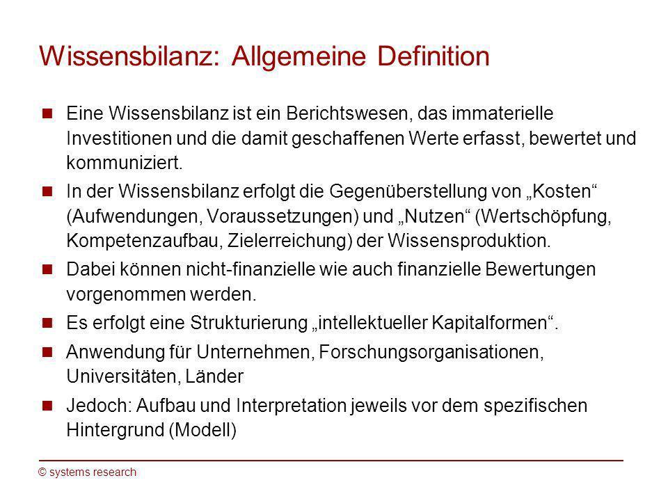Wissensbilanz: Allgemeine Definition