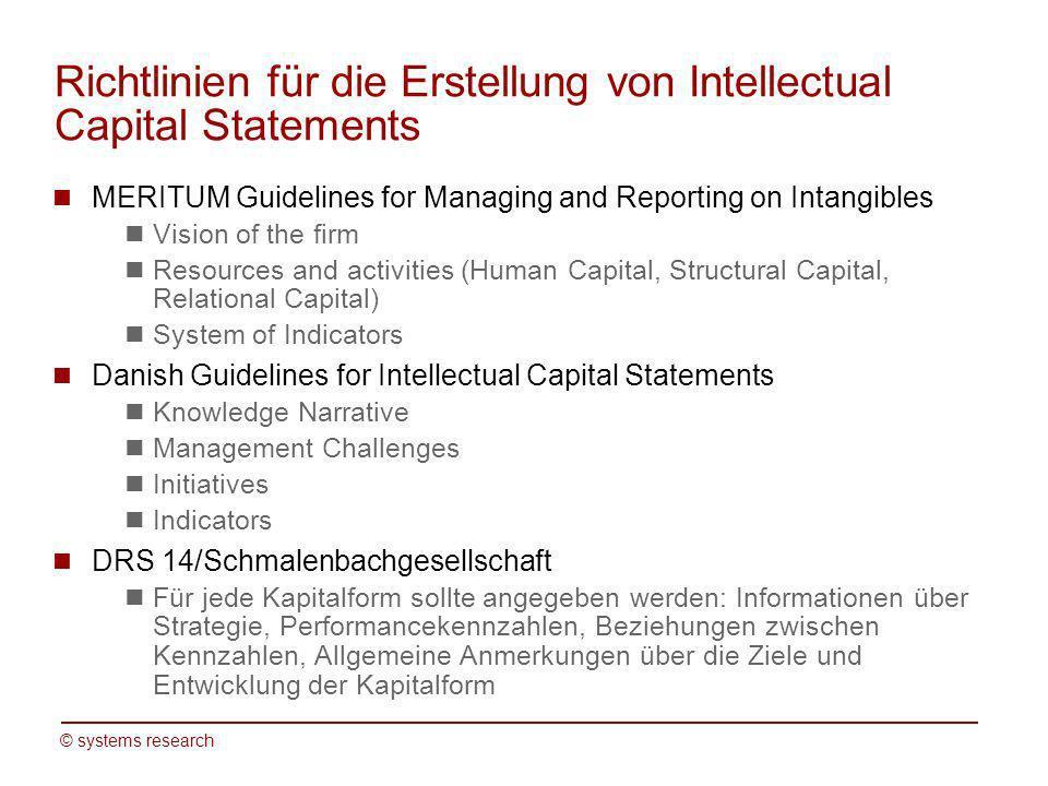 Richtlinien für die Erstellung von Intellectual Capital Statements