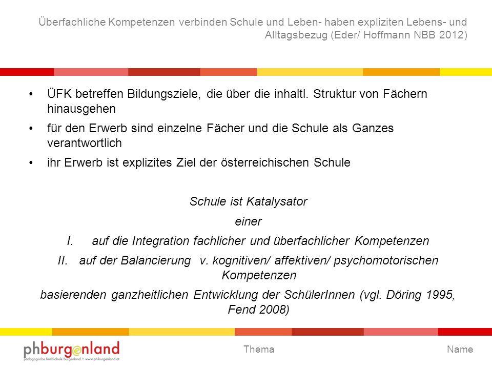 ihr Erwerb ist explizites Ziel der österreichischen Schule