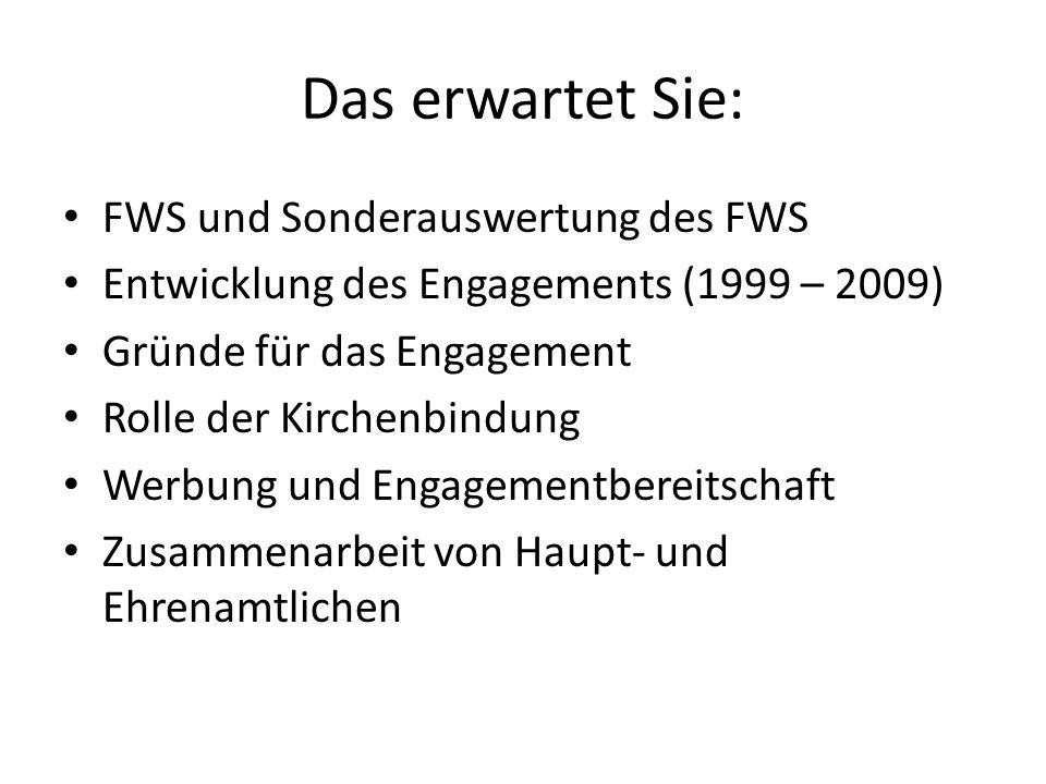 Das erwartet Sie: FWS und Sonderauswertung des FWS