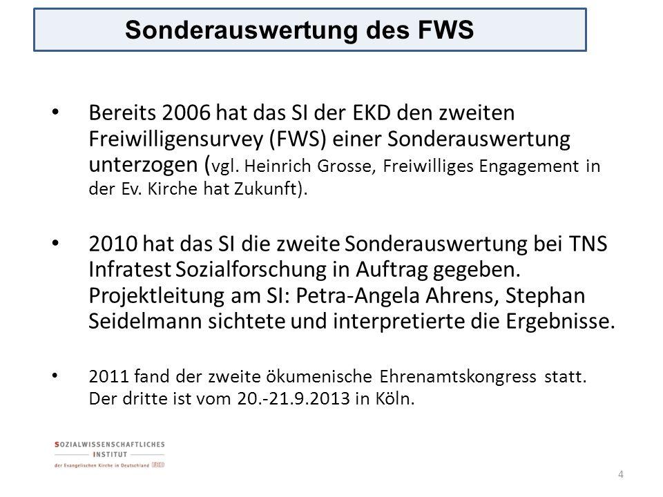 Sonderauswertung des FWS