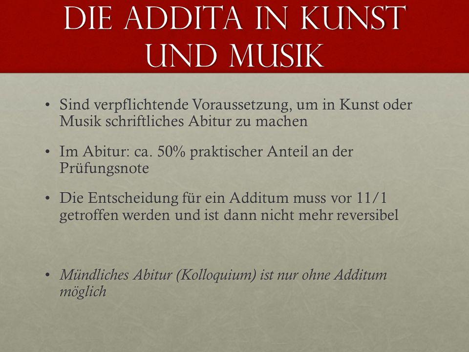 Die Addita in Kunst und Musik