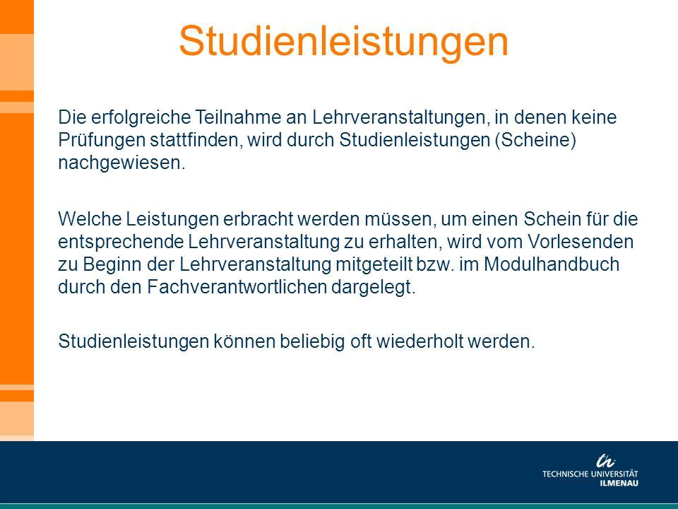 Studienleistungen