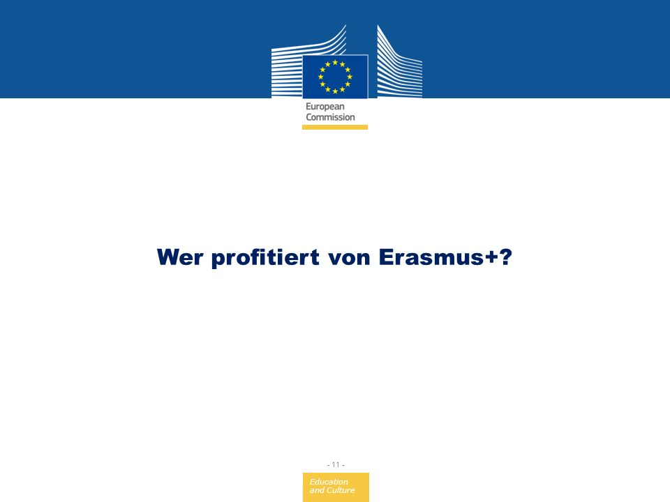 Wer profitiert von Erasmus+