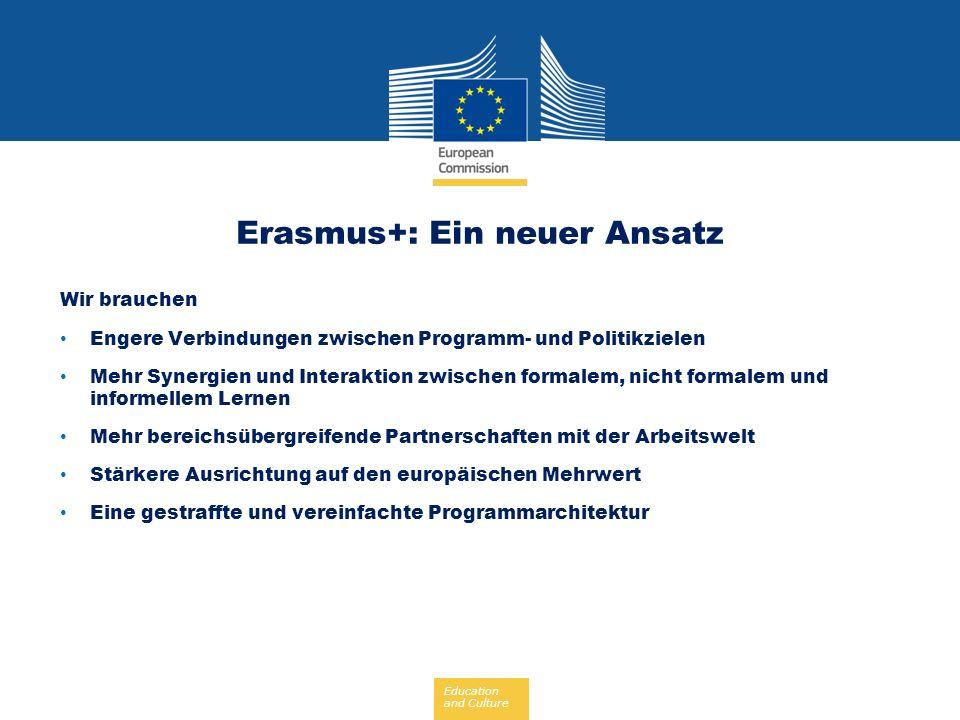 Erasmus+: Ein neuer Ansatz
