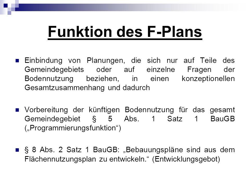 Funktion des F-Plans