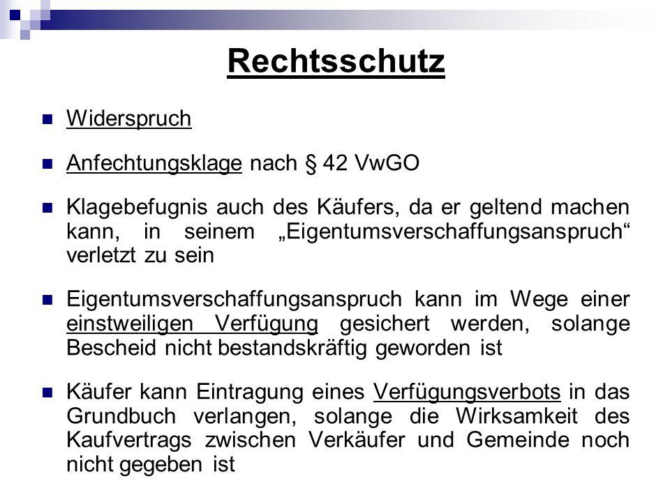 Rechtsschutz Widerspruch Anfechtungsklage nach § 42 VwGO